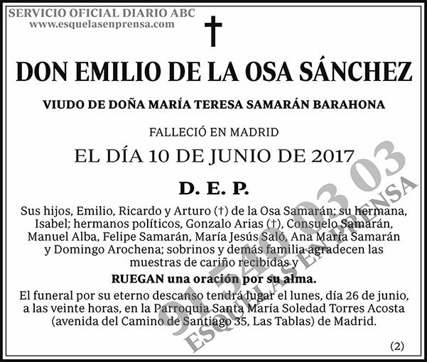 Emilio de la Osa Sánchez